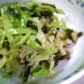 cabbage-wakame