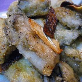 oyster-garlic-sauted